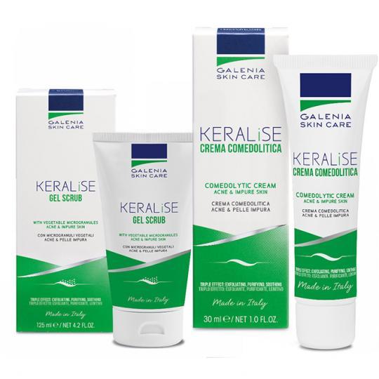 Galenia Skin Care® Akne Kur bei Akne und unreiner Haut. Set aus talgregulierender Creme und Peeling-Gel.