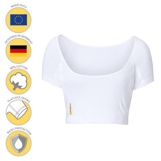 MANJANA® Woman-U-bustier-shirt - mit Achselnässeschutz gegen Schweißflecken