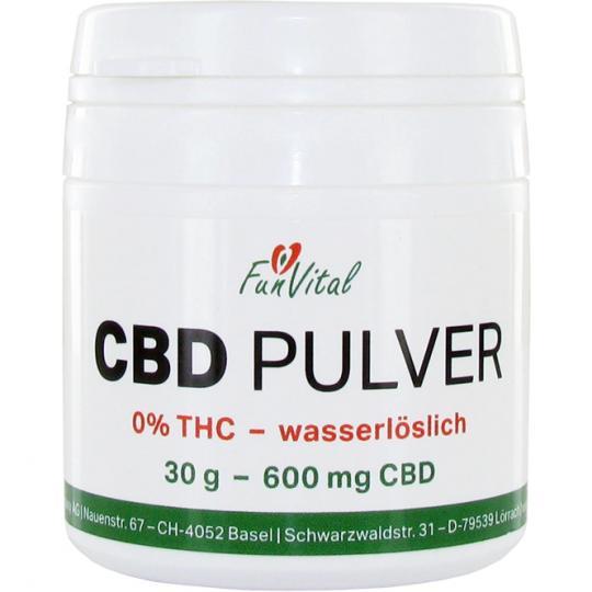 FunVital© CBD Pulver - wasserlöslich - 0% THC