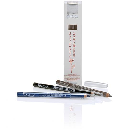 Galenia Skin Care® Eyeliner mit hypoallergender Stiftspitze. 3 Stk.