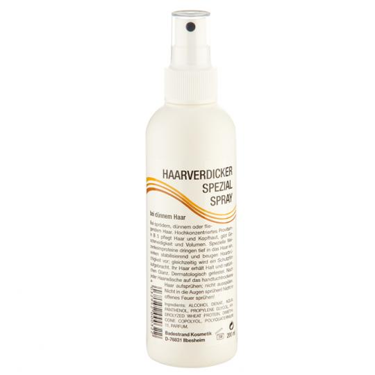 Haarverdicker Spezialspray von Badestrand für mehr Volumen