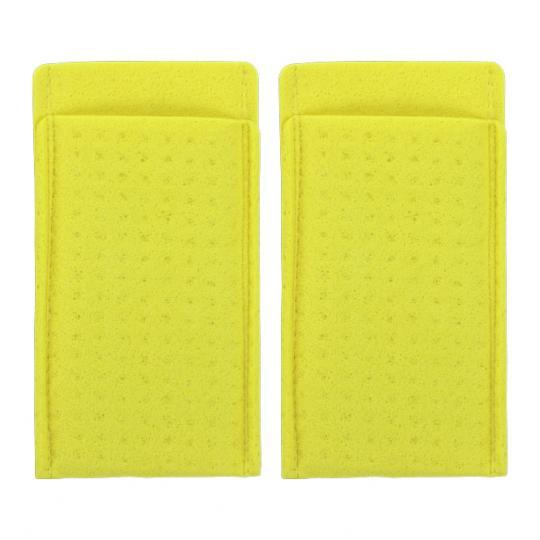 Schwammtaschen mit Elektroden für den Einsatz von SweatStop® Iontophorese DE20 gegen Achselschweiß.