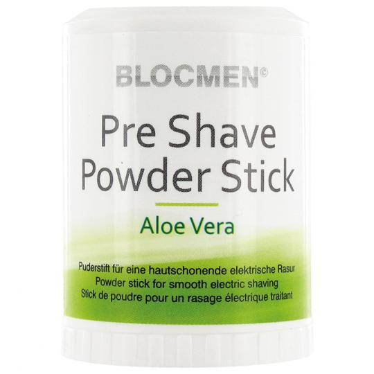 BLOCMEN© Aloe Vera Rasurpuderstift für eine schonende Trockenrasur