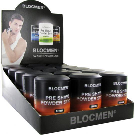BLOCMEN© Derma Pre-Shave - Rasurpuderstift für eine besonders schonende Trockenrasur. Ohne Duft- und Farbstoffe. 15er Set.
