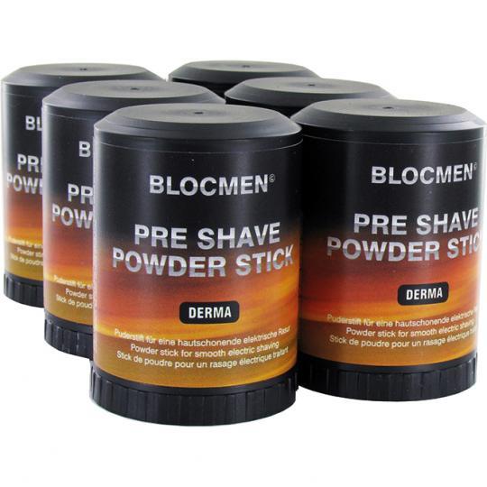 BLOCMEN© Derma Pre-Shave - Rasurpuderstift für eine besonders schonende Trockenrasur. Ohne Duft- und Farbstoffe. 6er Set.