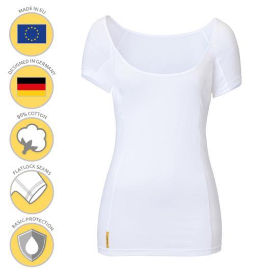 MANJANA® Women-U-modern-shirt mit Achselnässeschutz gegen Flecken