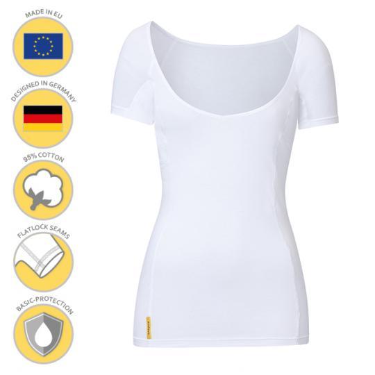MANJANA® Women-V-modern-shirt - mit starkem Achselnässeschutz gegen Schweißflecken